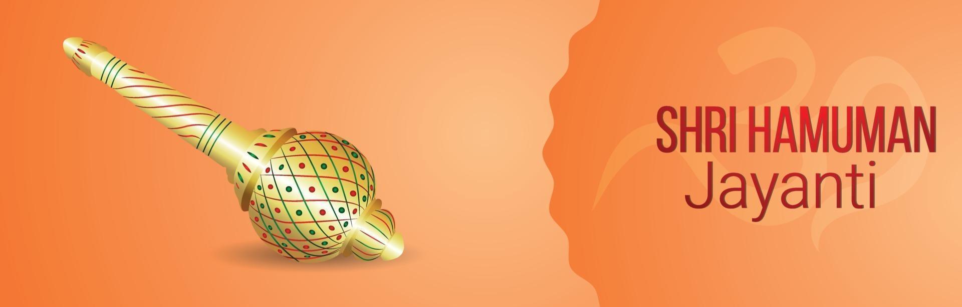 hanuman jayanti firande banner eller rubrik vektor