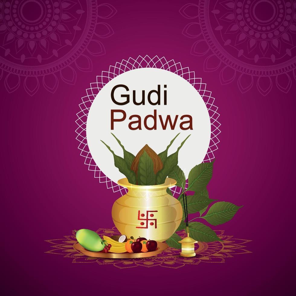 Illustration des Gudi Padwa Feierfestes von Indien vektor