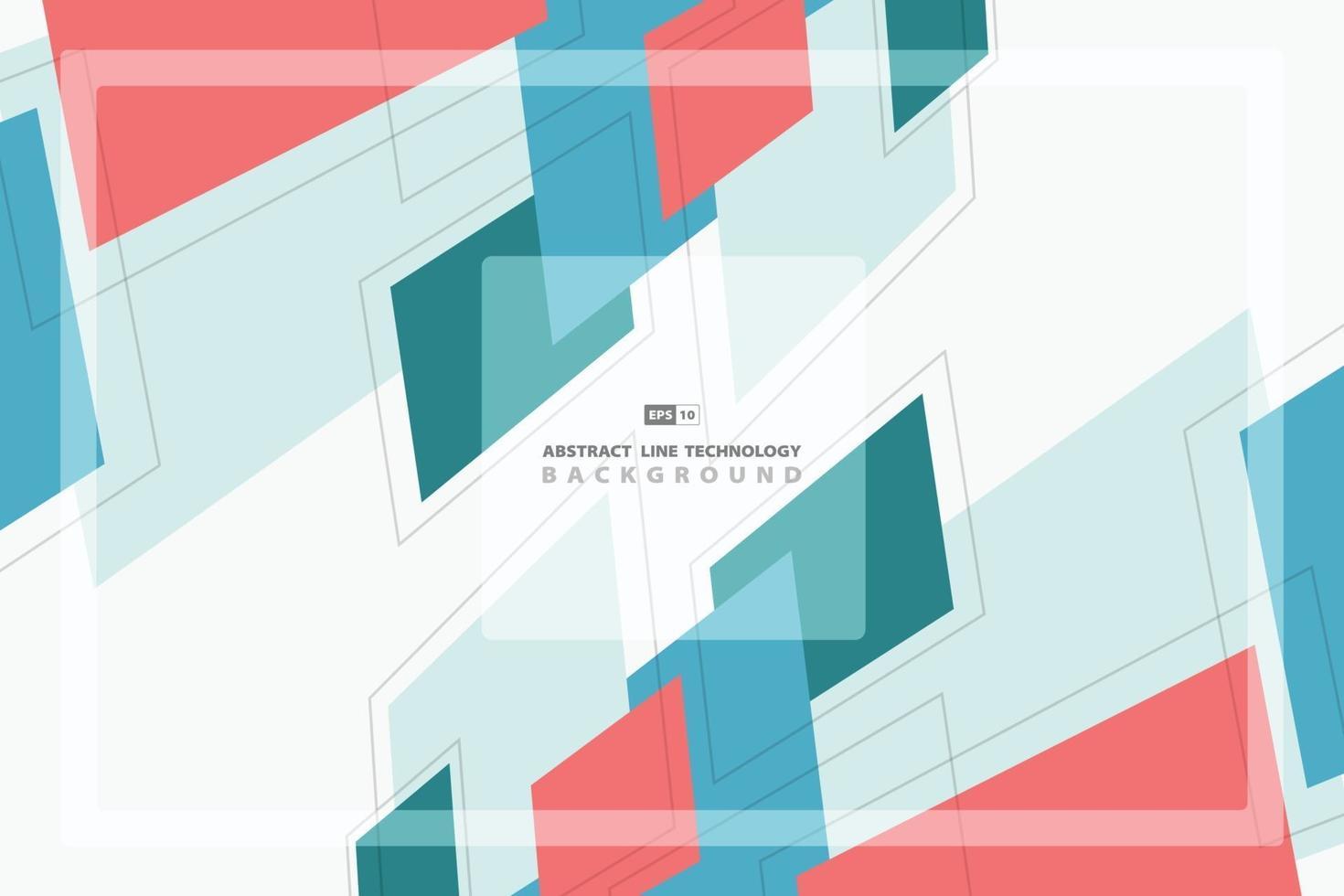 abstrakter Pastell geometrischer bunter Musterdesignhintergrund. Illustrationsvektor eps10 vektor