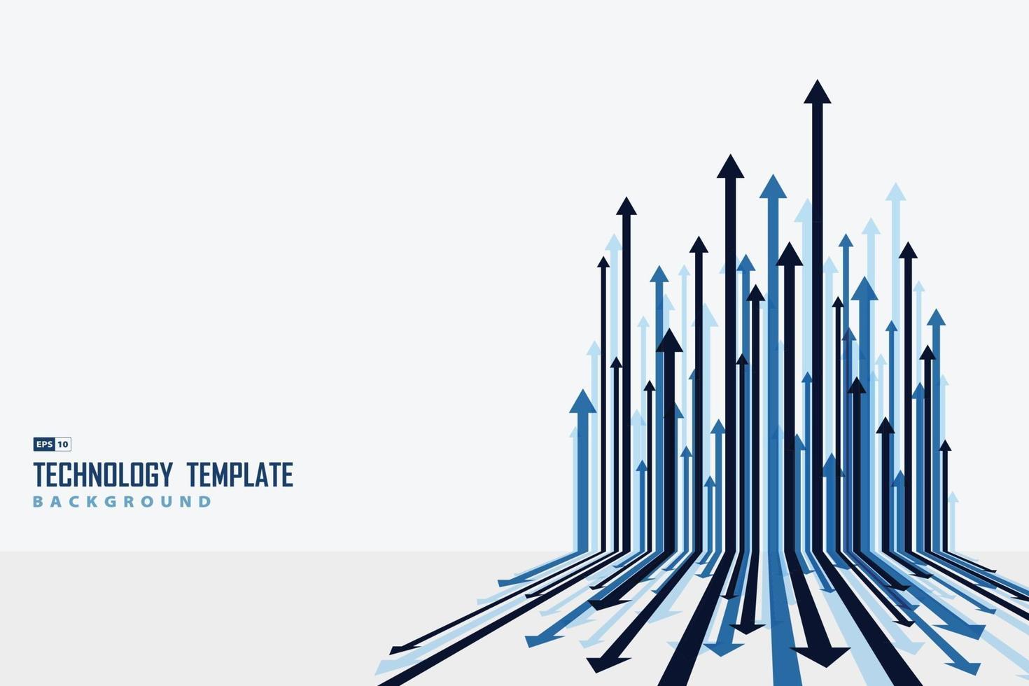 dekorativer kunststoffhintergrund des abstrakten pfeils blauen streifenlinienmuster. Illustrationsvektor eps10 vektor