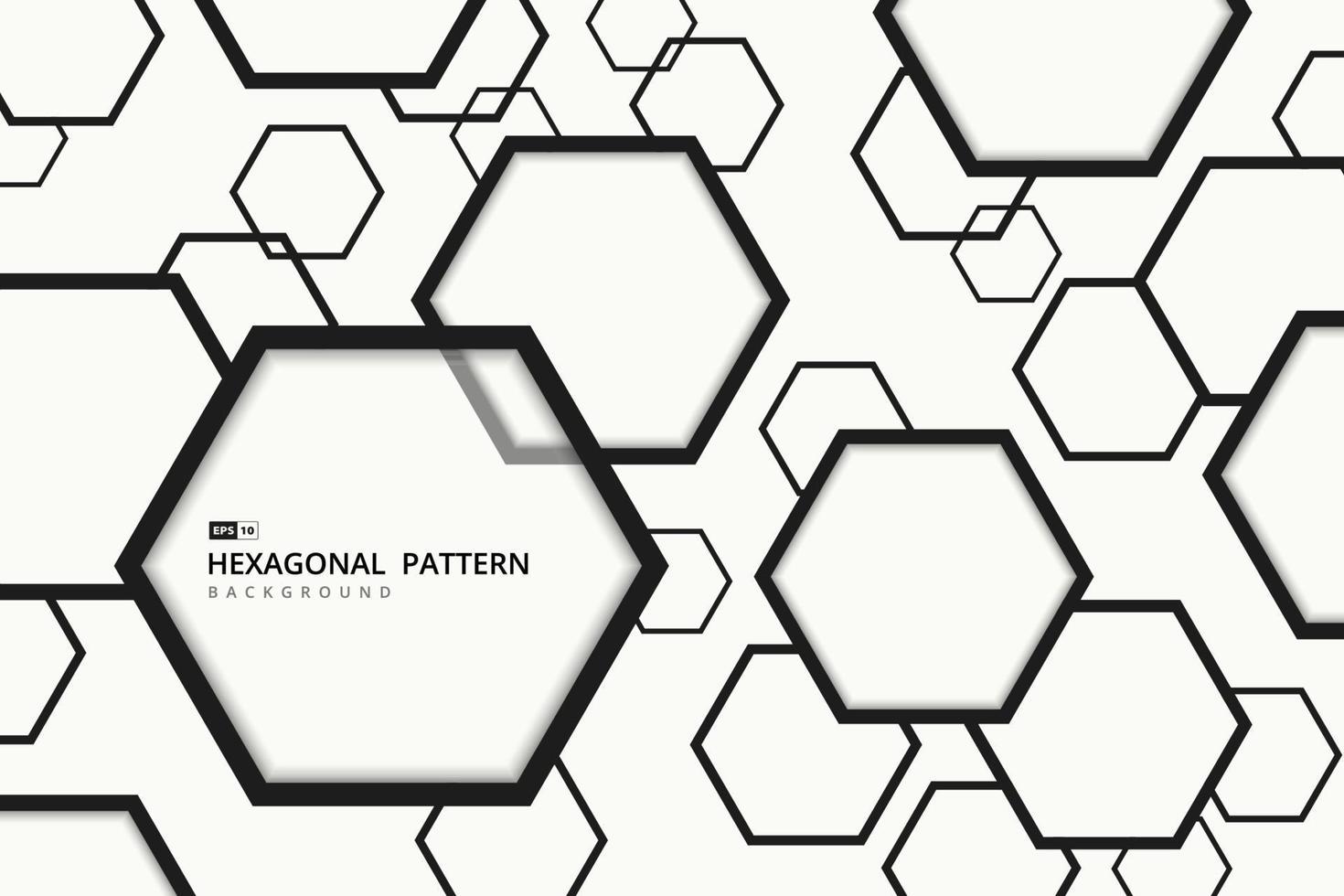 abstrakt sexkantig mönster design av täcka konst bakgrund. illustration vektor eps10