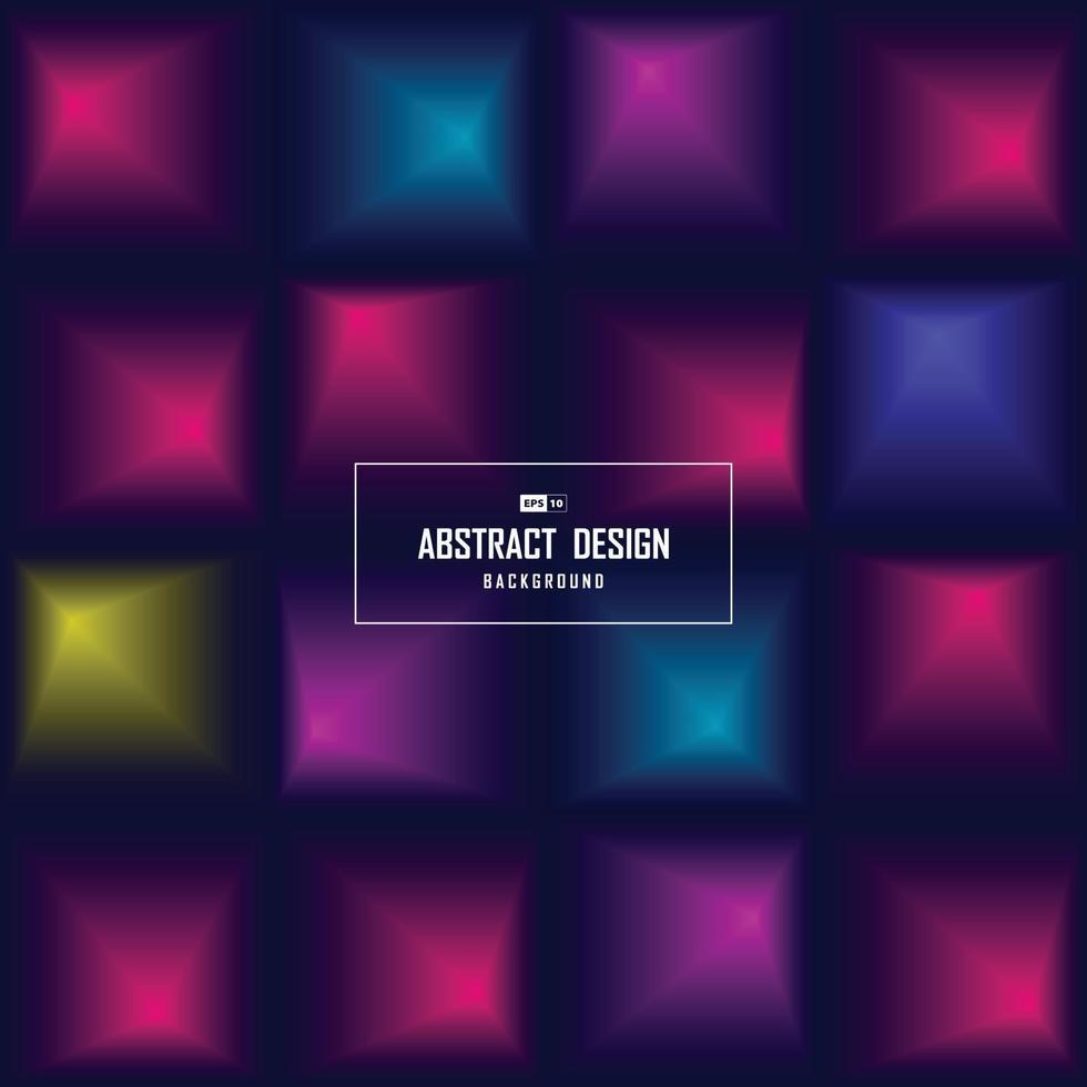 abstrakter quadratischer Farbverlauf des technischen Entwurfsmusterabdeckungshintergrunds. Illustrationsvektor eps10 vektor