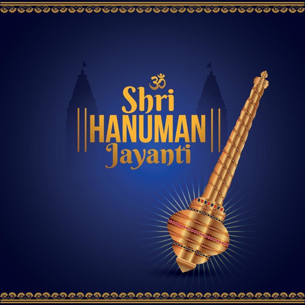 Shri Hanuman Jayanti Grußkarte vektor