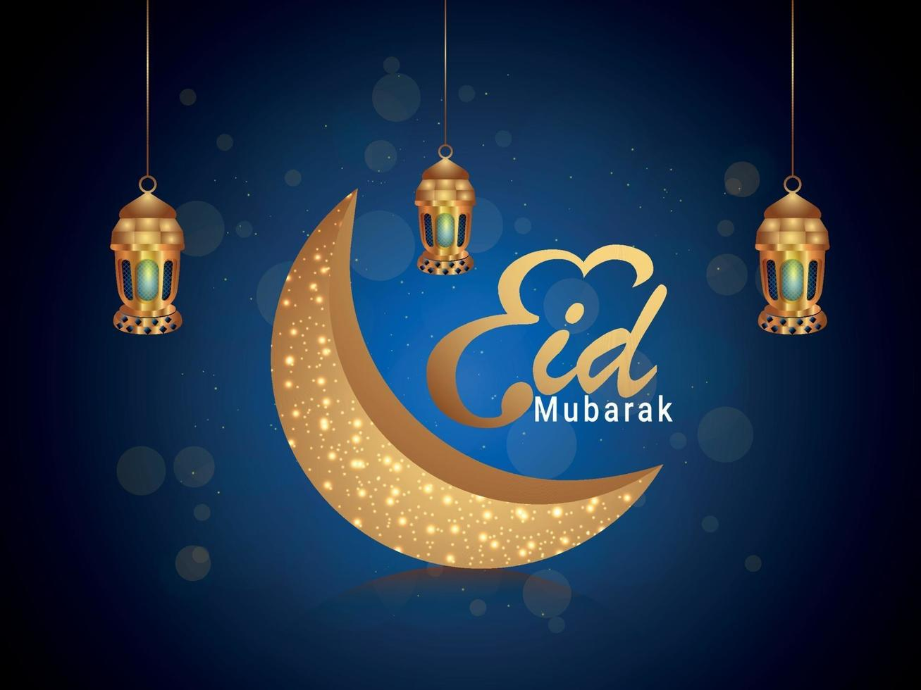 eid mubarak gratulationskort eller banner vektor