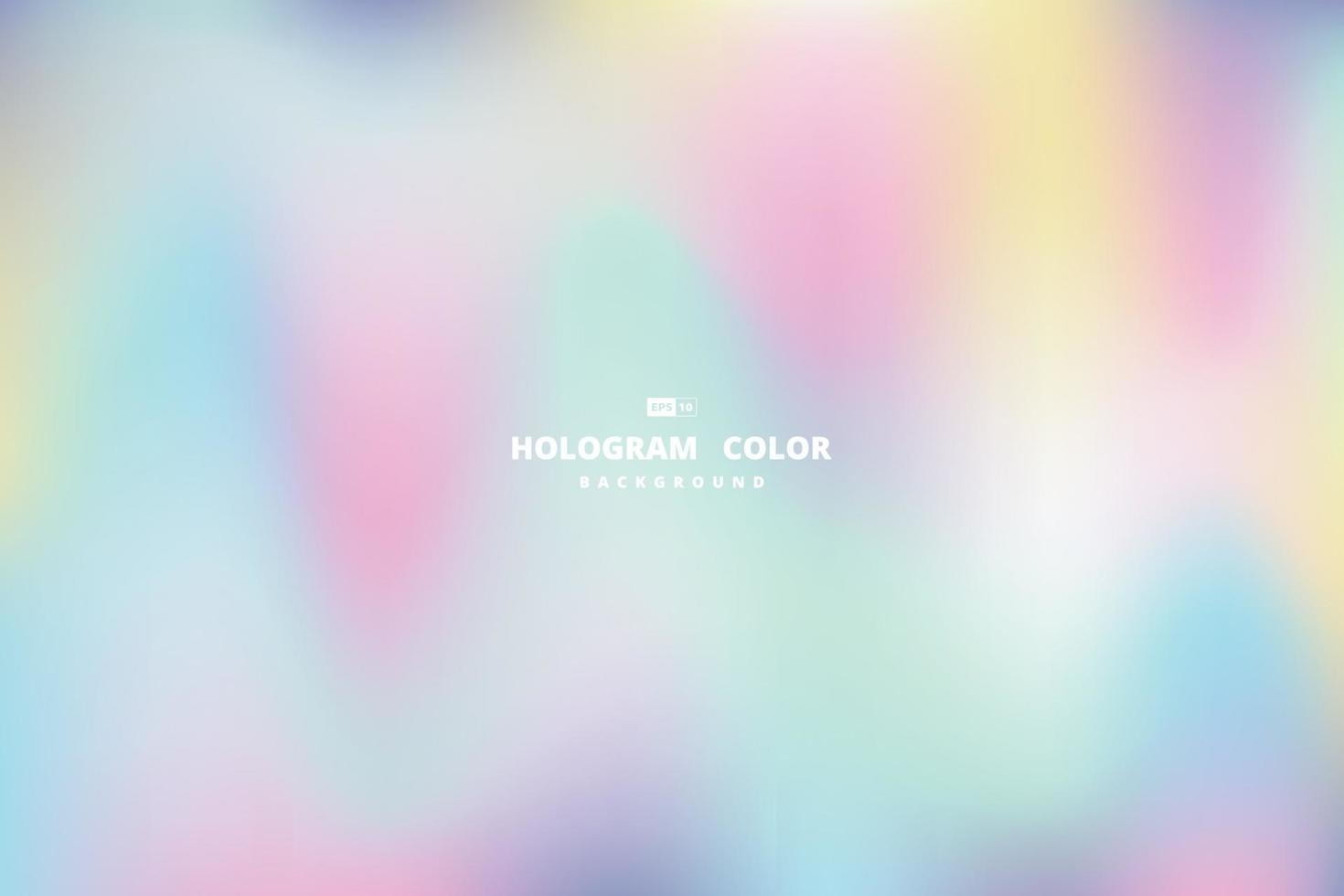 abstrakt magisk färg av hologramdesignbakgrund. illustration vektor eps10