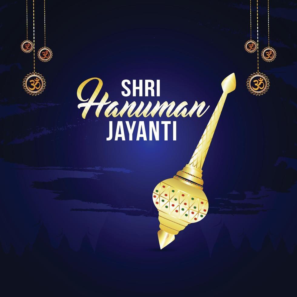 vektorillustration av lycklig hanuman jayanti festival, firar, hanuman jayanti firande vektor