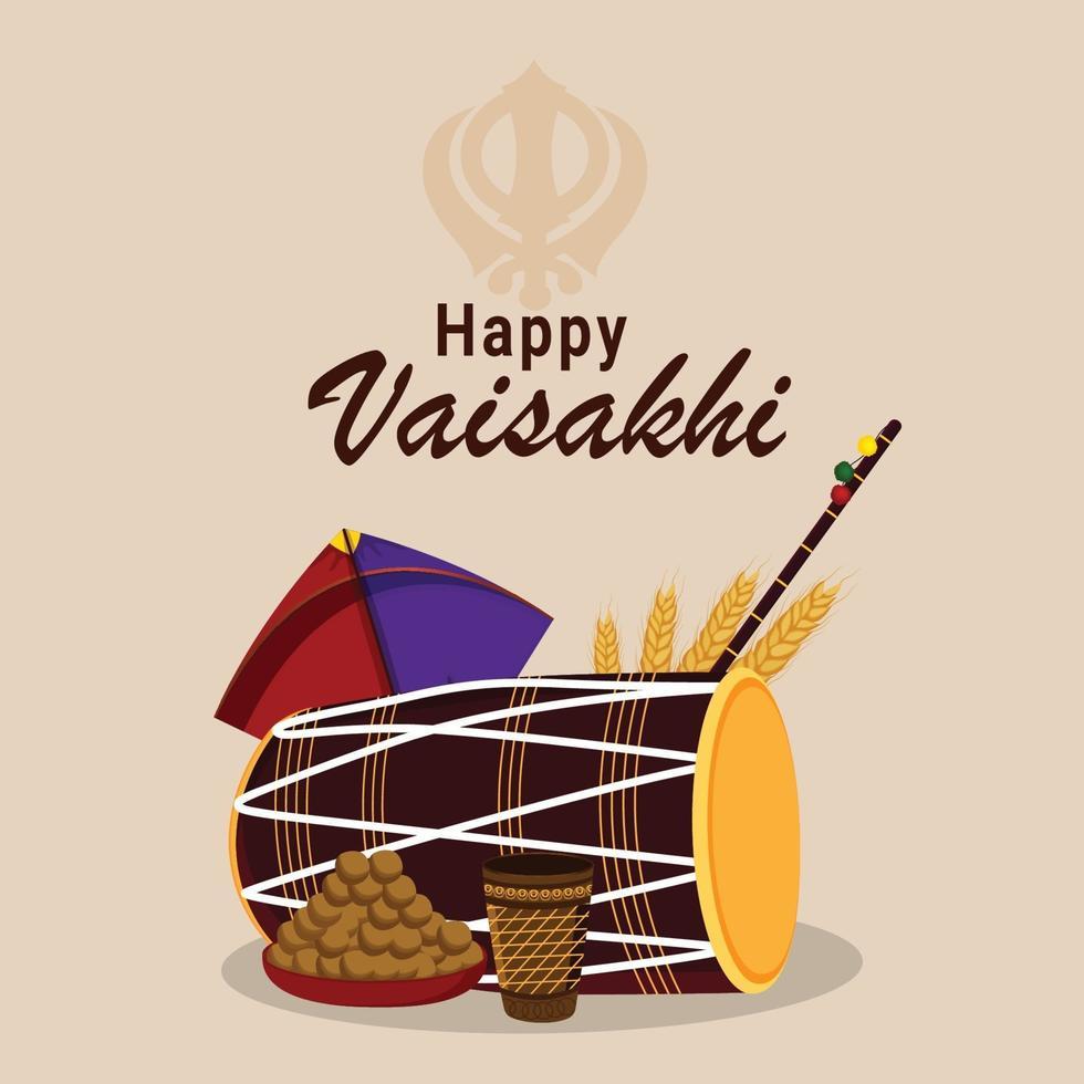 vektor illustration av punjabi festival vaisakhi firande