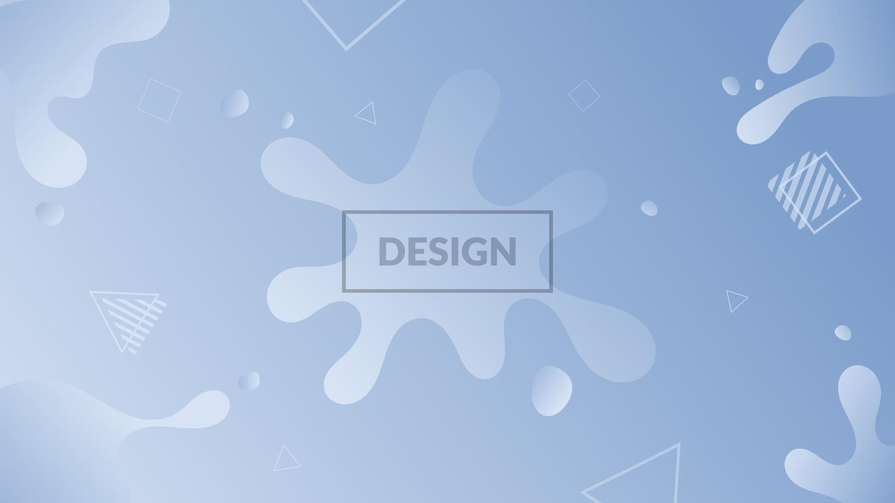 blauer flüssiger abstrakter Hintergrund vektor