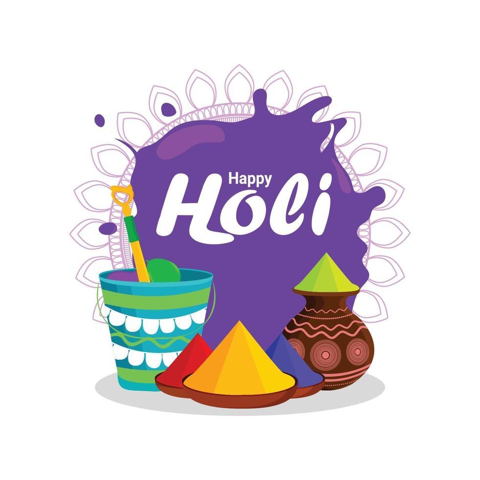 Happy Holi Indian Festival Feier Hintergrund vektor