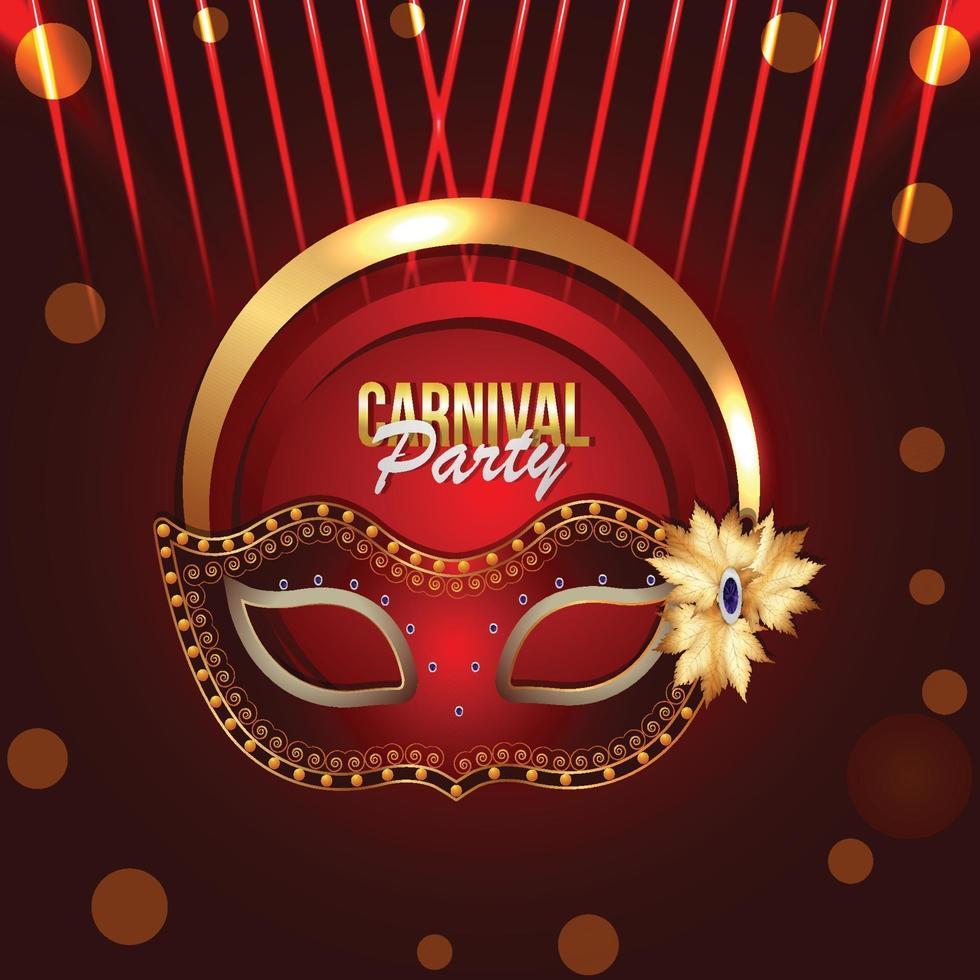 karneval jayanti firande bakgrund med gyllene mask vektor