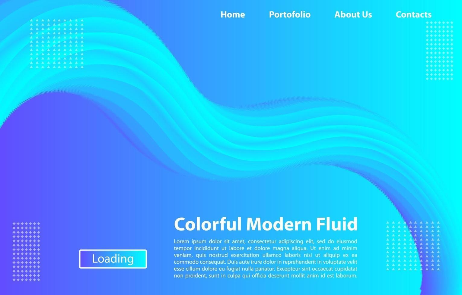 bunte 3d moderne fließende Hintergrund.Design-Vorlage für Landing Page, Banner, Poster, Cover, etc. vektor