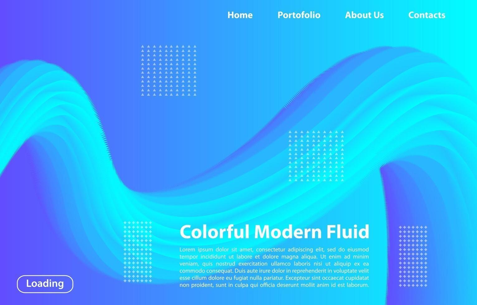 färgglad 3d modern flytande bakgrund. designmall för målsida, banner, affischer, omslag etc. vektor