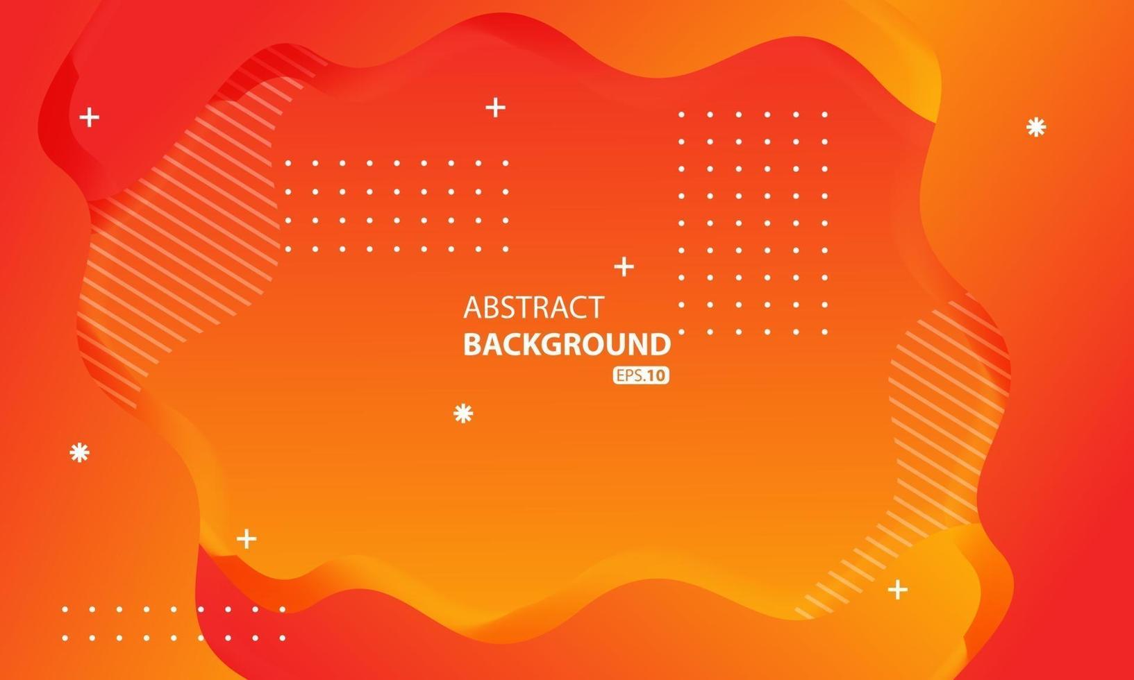 abstrakte orange flüssige Farbe Hintergrund.welliger geometrischer Hintergrund.dynamisch strukturiertes geometrisches Elementdesign. vektor