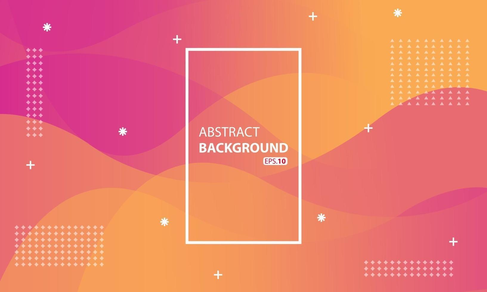 rosa och orange flytande färgbakgrund. vågig geometrisk bakgrund. dynamisk strukturerad geometrisk elementdesign. vektor