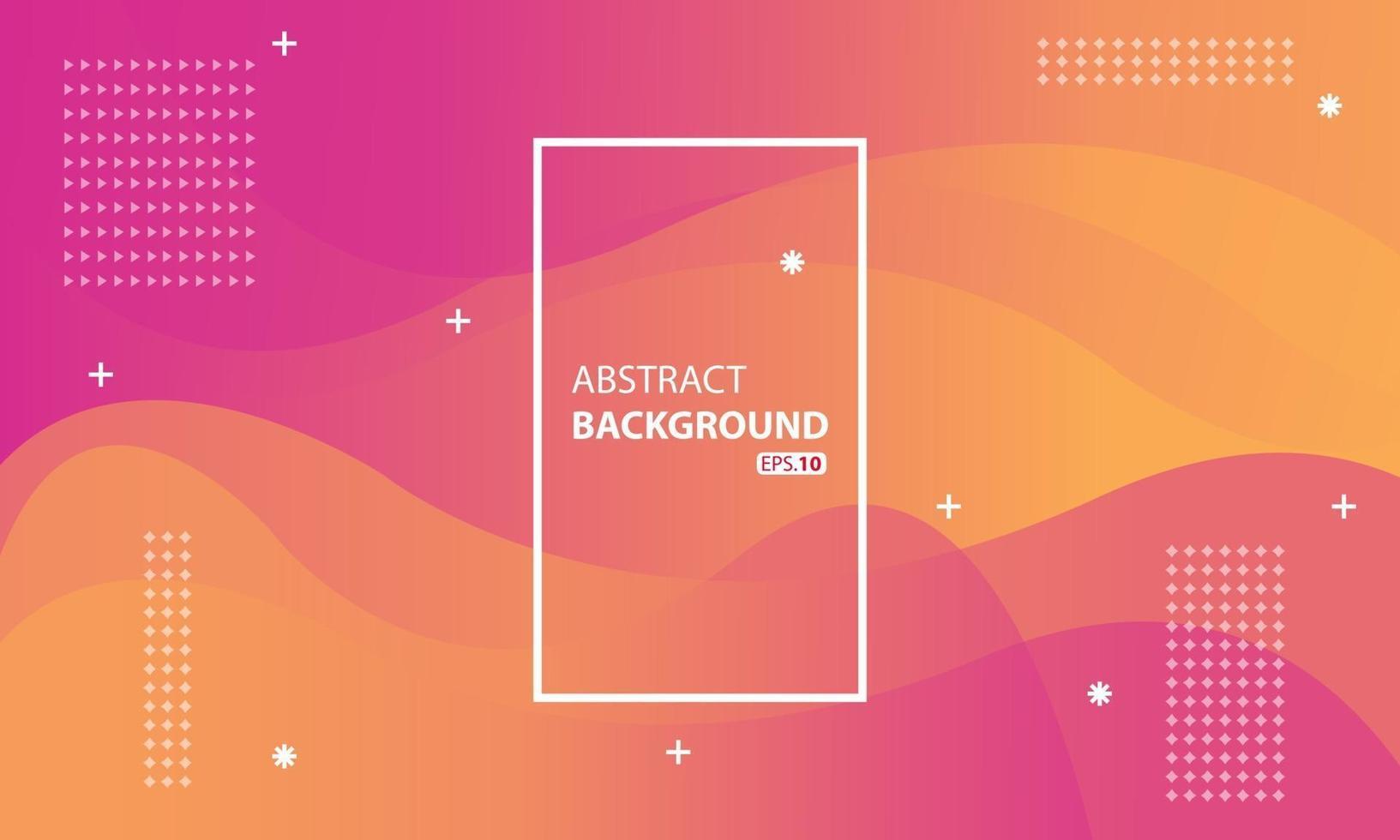 rosa und orange flüssiger Farbhintergrund. Wellenförmiger geometrischer Hintergrund. Dynamisches strukturiertes geometrisches Elementdesign. vektor