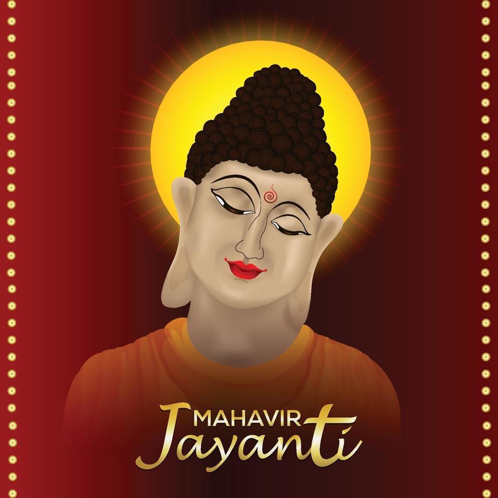 mahavir jayanti illustration och bakgrund vektor
