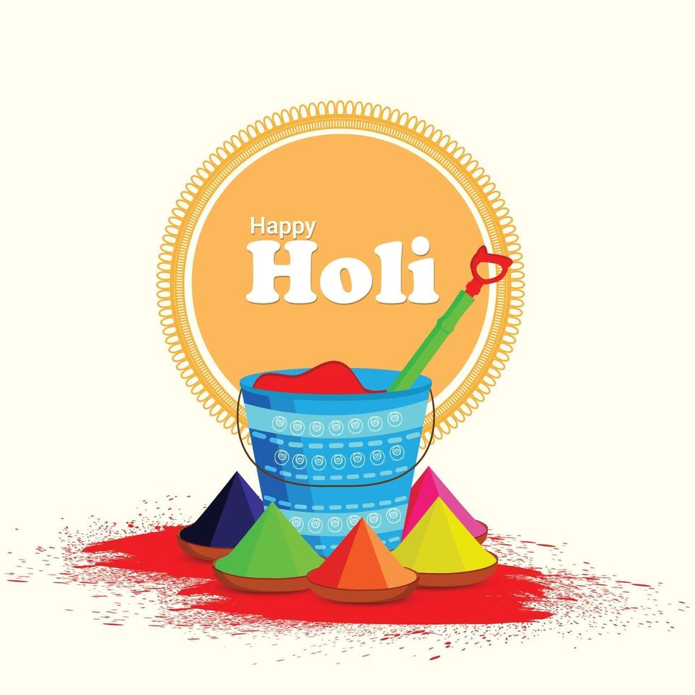indisches Festival glücklich holi Hintergrund vektor
