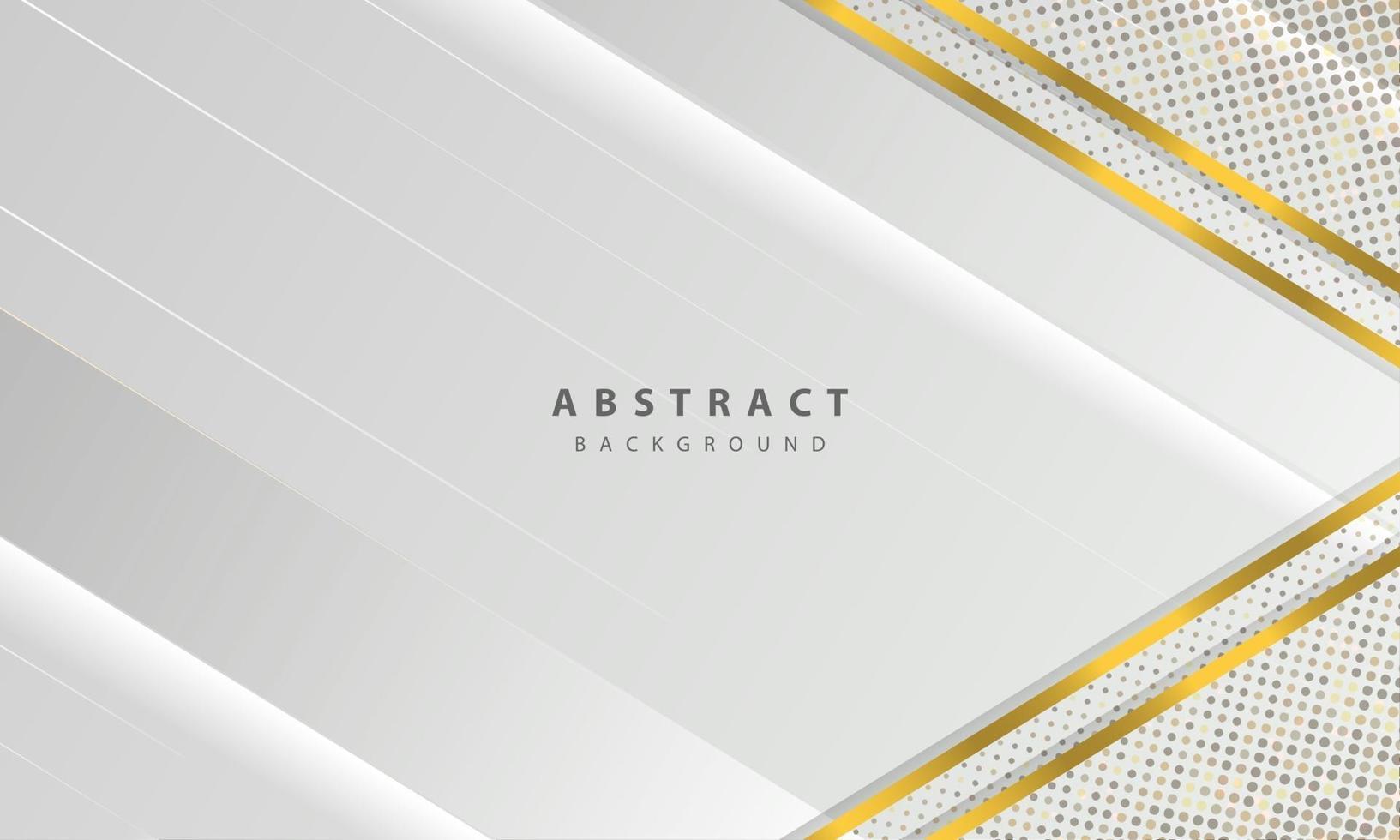 abstrakt vit bakgrundsvektor. elegant konceptdesignvektor. konsistens med silver glitter prickar element dekoration. vektor