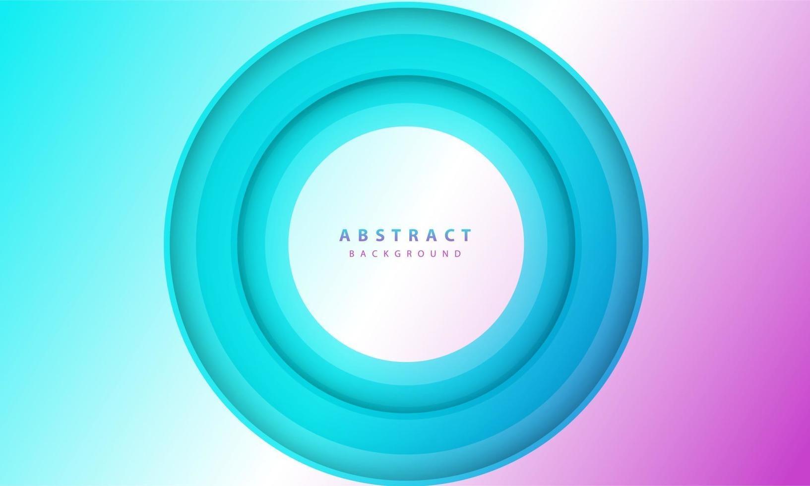 Farbverlauf Hintergrund. abstrakter Kreis Papierschnitt glatte Farbzusammensetzung. vektor