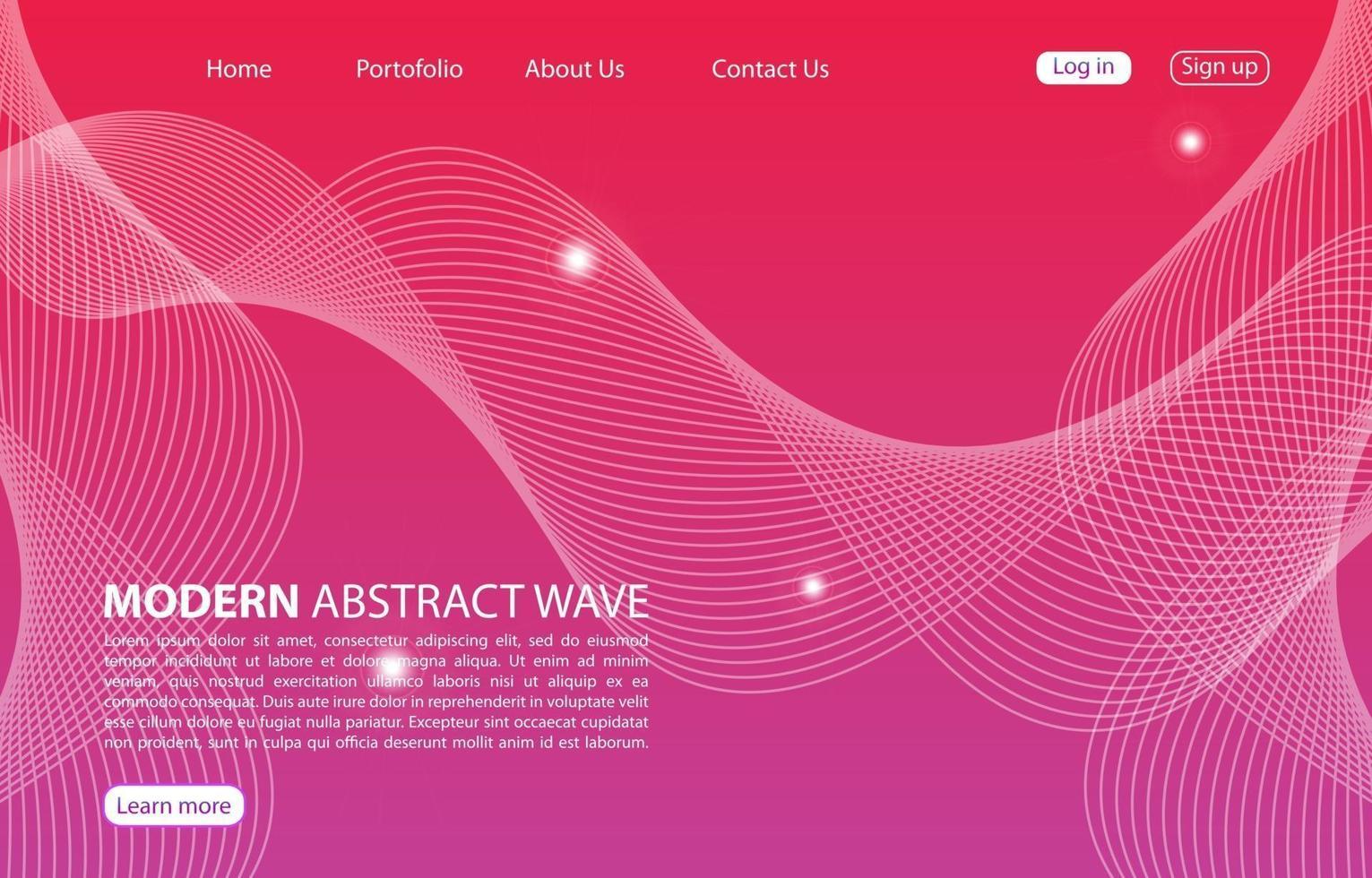 Zielseite. abstrakte Hintergrundwebsite. Vorlage für Websites oder Apps. modernes Design. abstrakter Vektorstilentwurf vektor