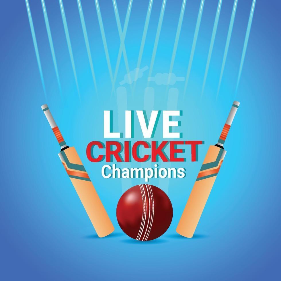 Cricket-Weltmeisterschaftsspiel mit Cricketspielern vektor