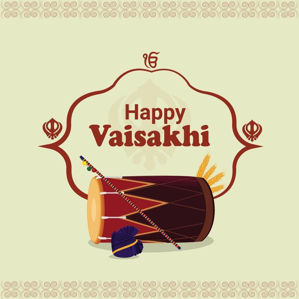 glad vaisakhi sikh festival firande bakgrund vektor