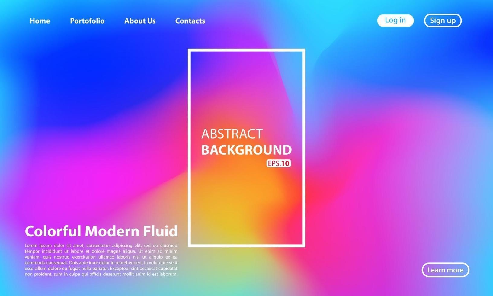 abstrakt flytande bakgrund för din målsidesdesign. bakgrund för webbdesign. modern mall för affisch eller banner. vektor