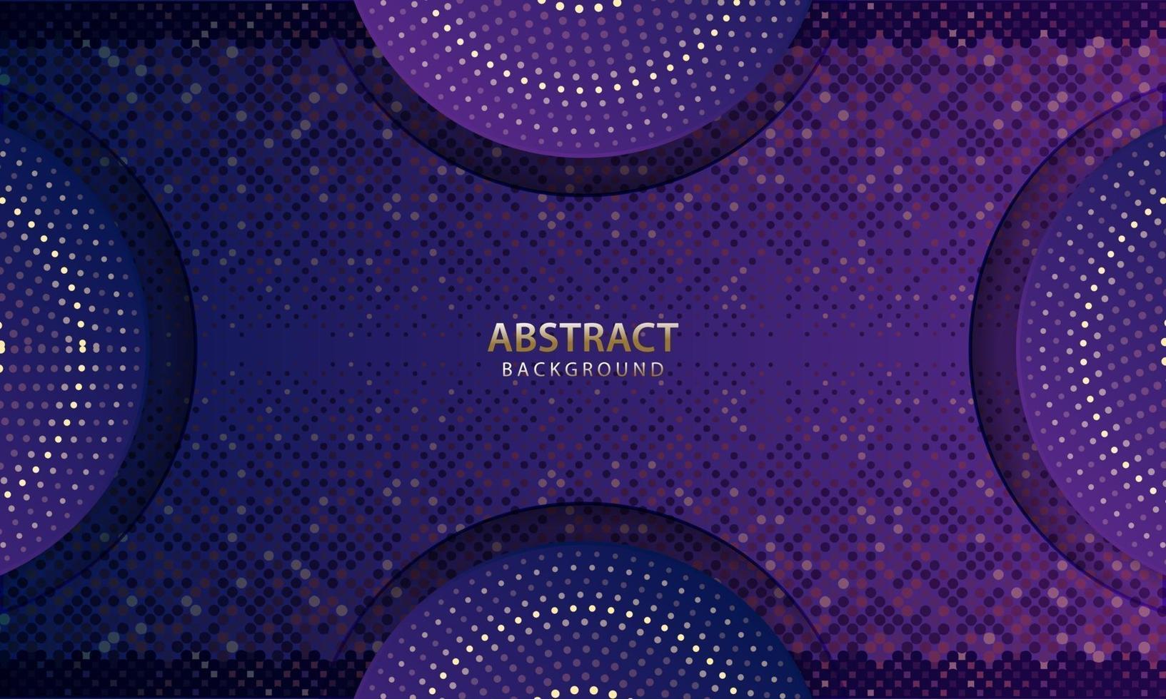 abstrakt futuristisk mörkblå bakgrund med glitter. 3d bakgrund. realistisk vektorillustration. vektor