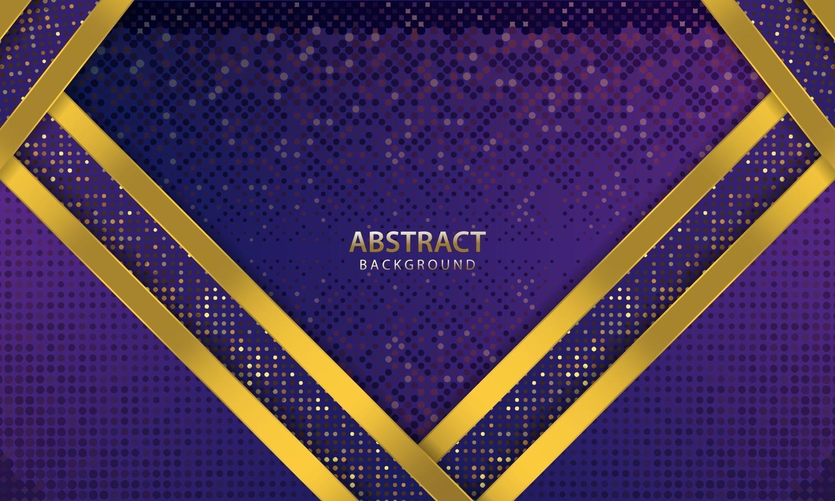 mörkblå abstrakt bakgrund. konsistens med linje guld och glittrar dekoration. realistisk vektorillustration. vektor