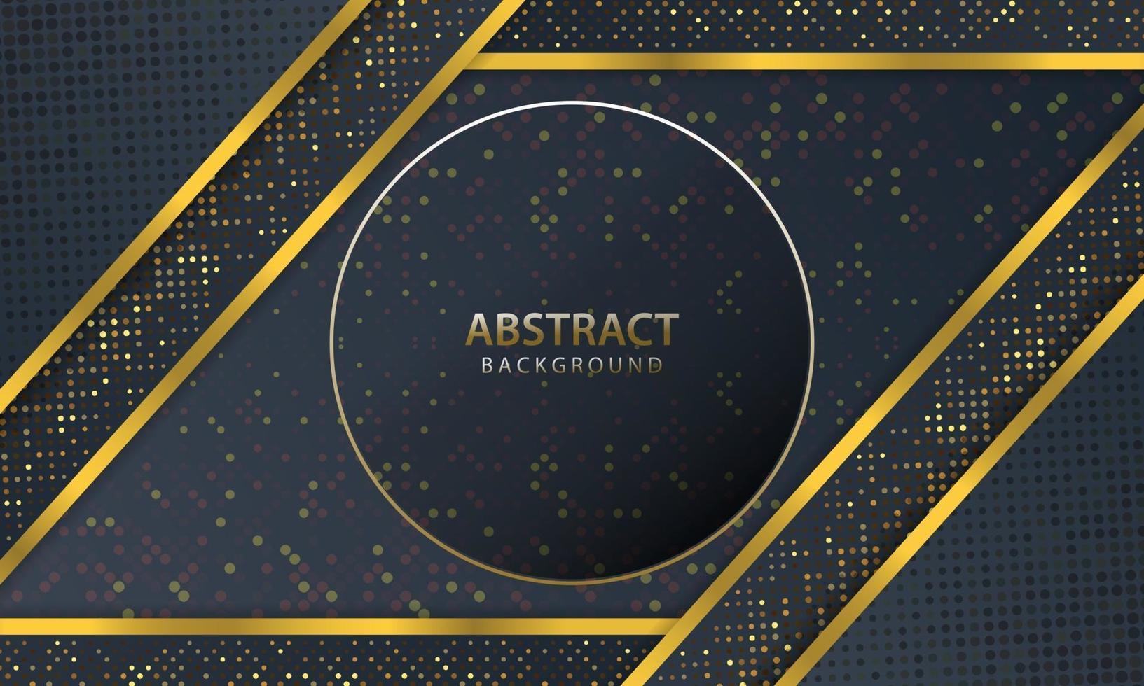 abstrakter dunkler Hintergrund mit Goldlinienentwurf modern. Vektorillustration. vektor