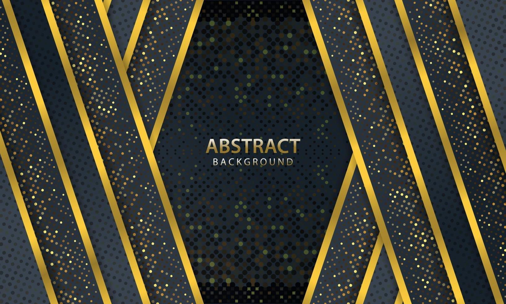 abstrakt mörk bakgrund med guldlinje design modern. vektor illustration.