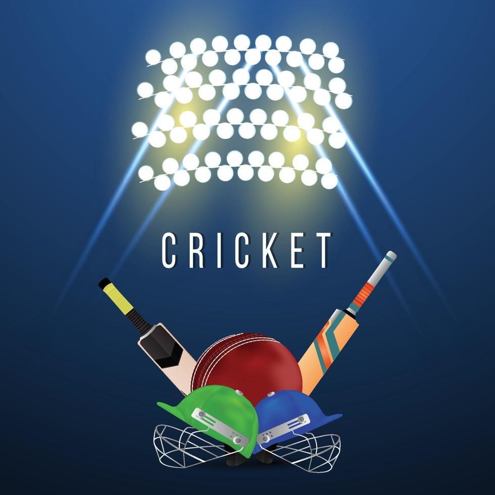 cricket leagur mästerskap med cricket hjälm vektor