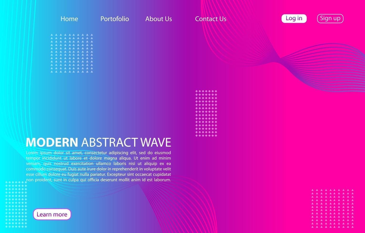 bunte moderne abstrakte Welle background.landing Seite abstrakte Welle Design. lila Farbe Hintergrund. vektor