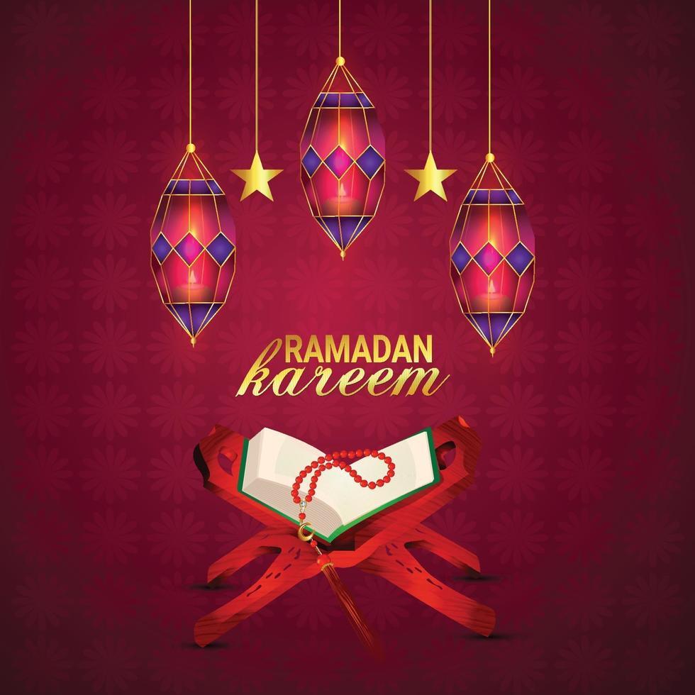kreatives Design und Vorlage oder Ramadan Kareem Vektor-Illustration und Hintergrund vektor