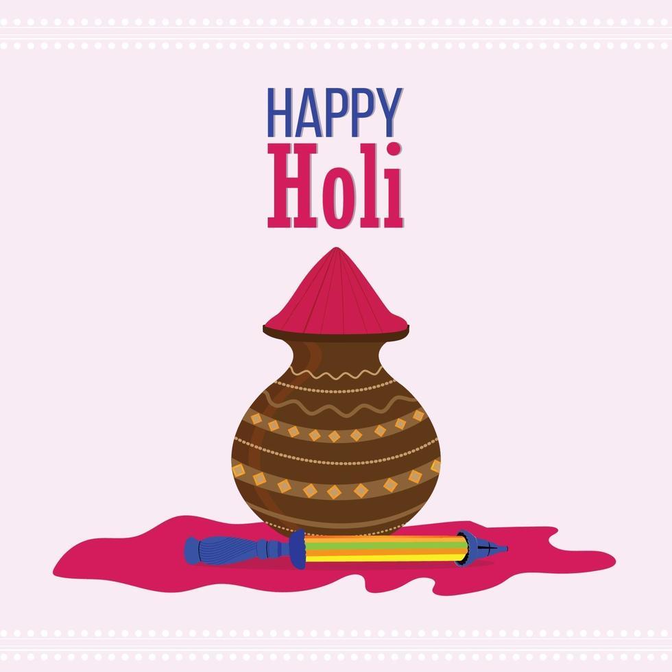 glad holi indisk hinduisk festival bakgrund vektor