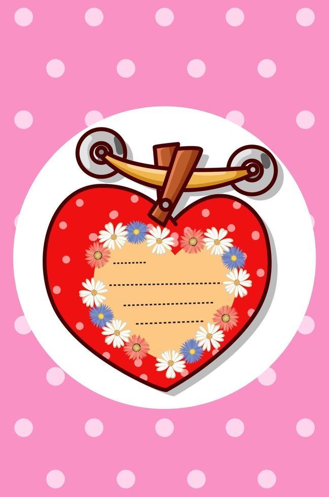 gratulationskort alla hjärtans dag tecknad illustration vektor