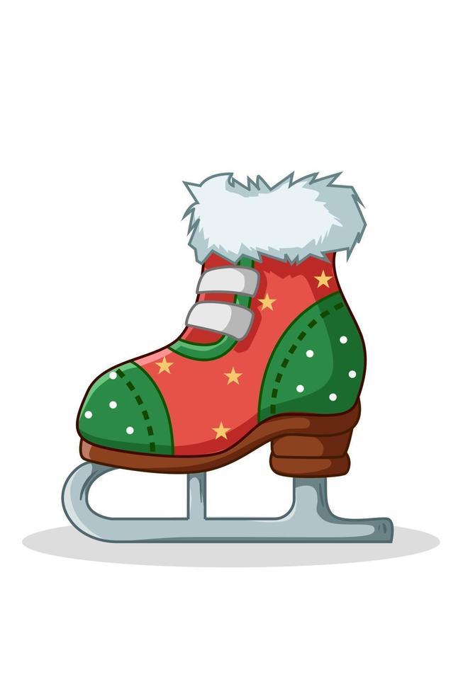 Illustration von Weihnachtsschlittschuhen vektor