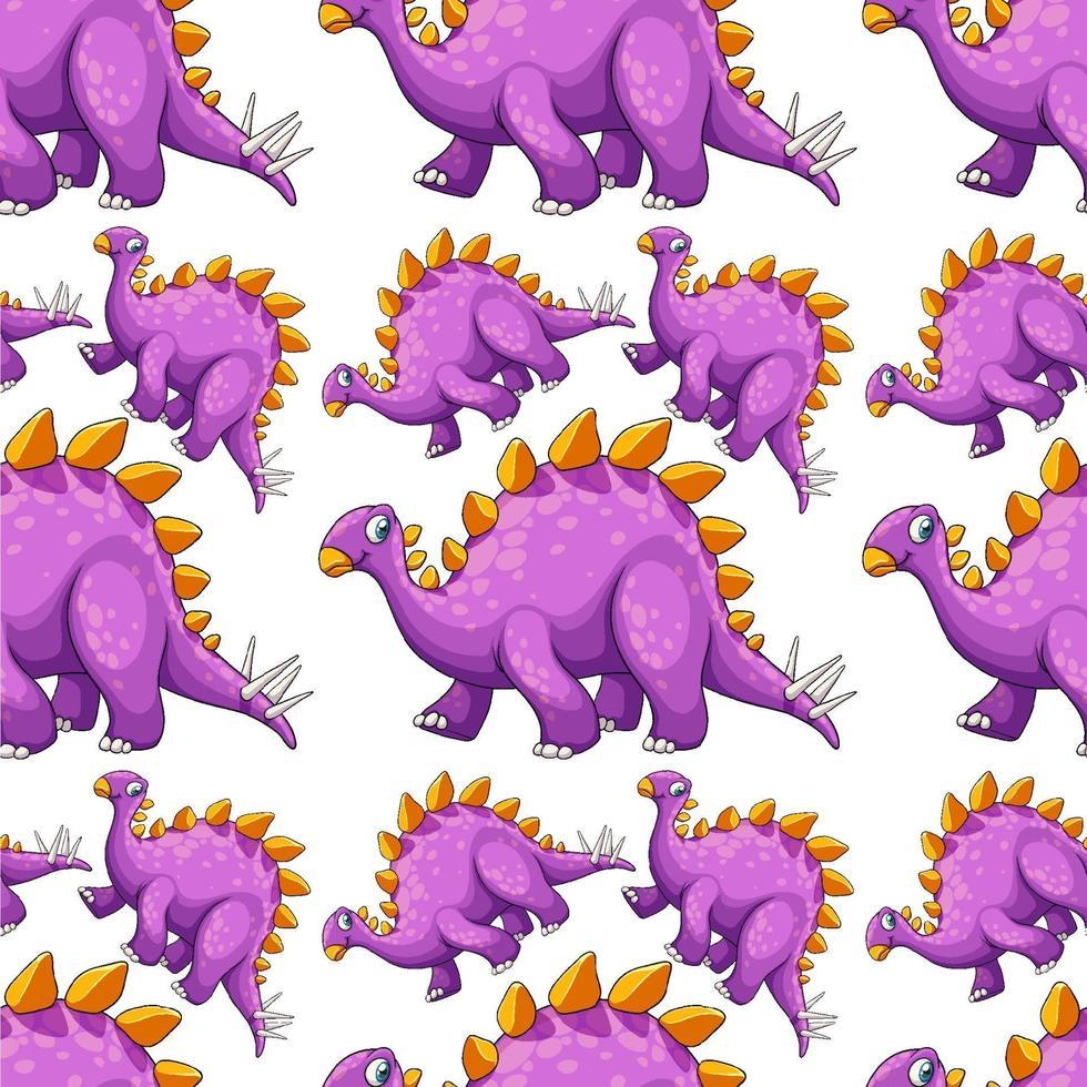 sömlösa mönster med fantasy dinosaurier tecknad vektor