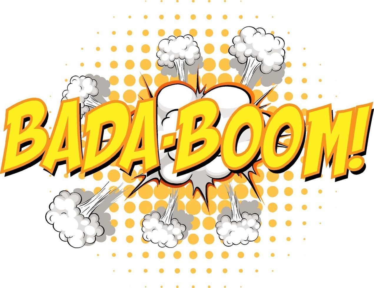 komisk pratbubbla med bada-boom-text vektor