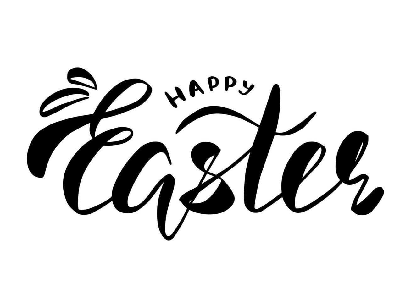 glad påsk bokstäver. gratulationskort. vektor