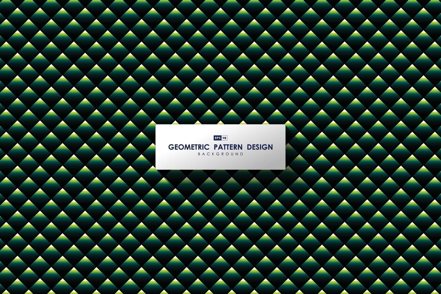 abstraktes grünes Dreiecksmusterdesign des modernen Kunstwerkshintergrundes. Illustrationsvektor eps10 vektor
