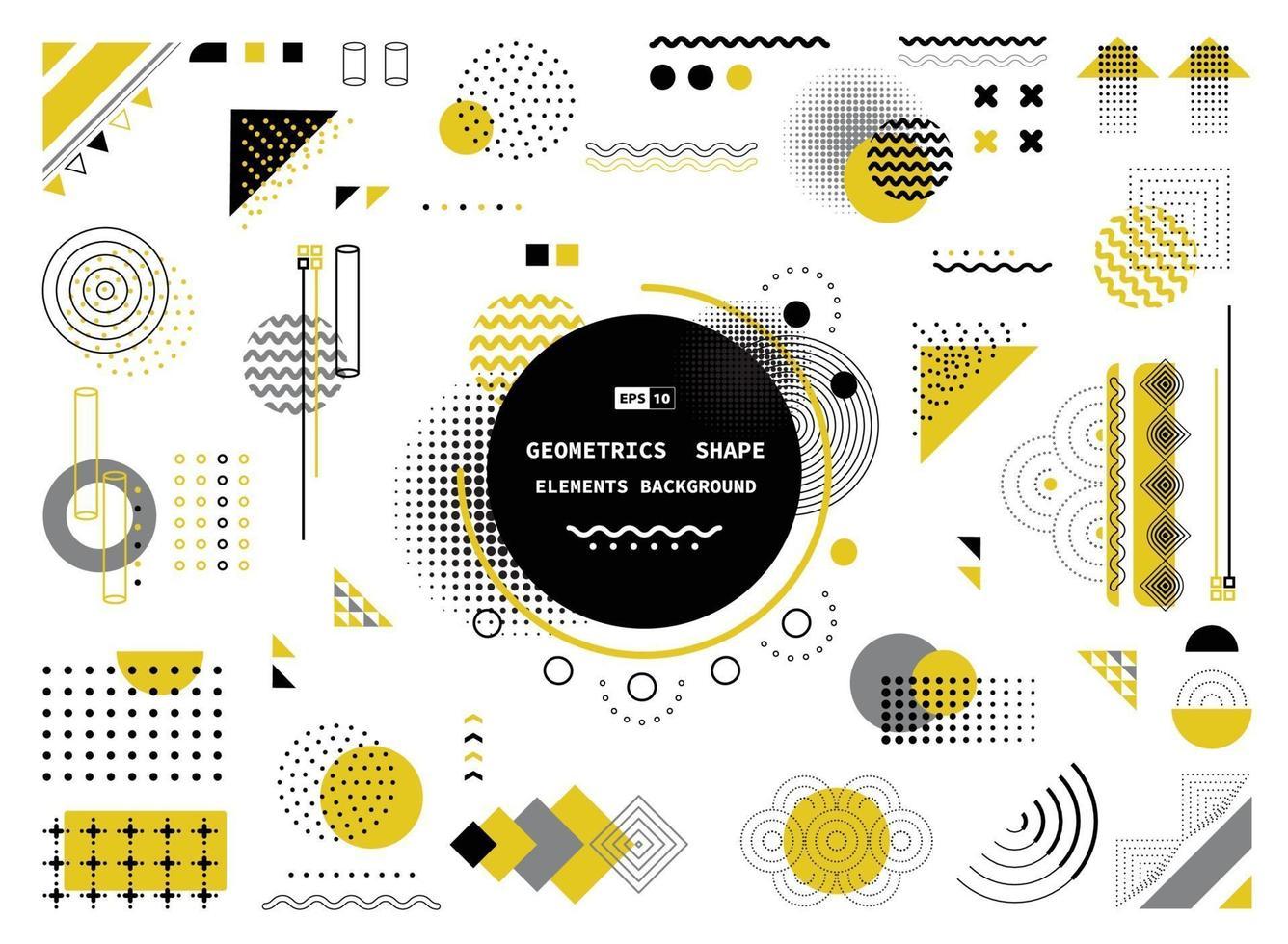 abstrakt gul grå och svart geometrisk form av moderna element täcker design. illustration vektor eps10