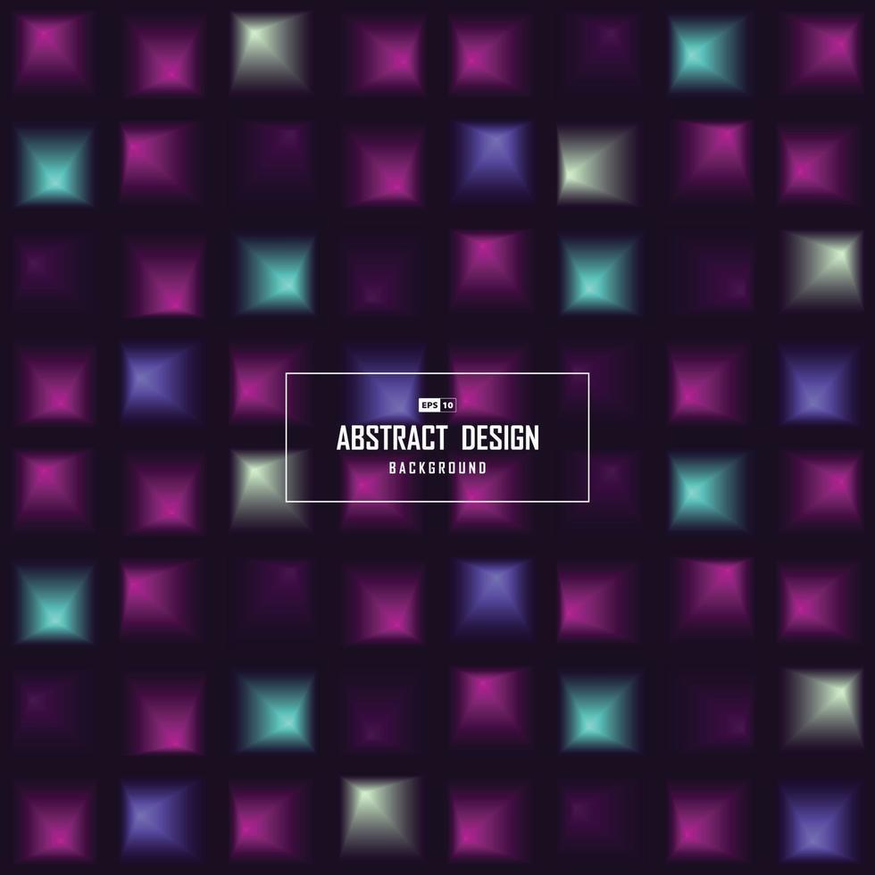 abstrakt vetenskap färg av fyrkantiga futuristiska färg mönster design bakgrund. illustration vektor eps10