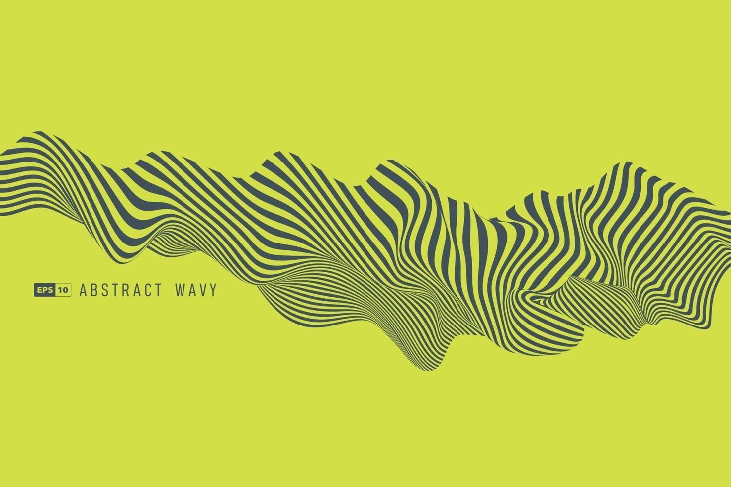 abstrakter trendiger grüner Wellenmusterentwurfskunstwerkhintergrund. Illustrationsvektor eps10 vektor