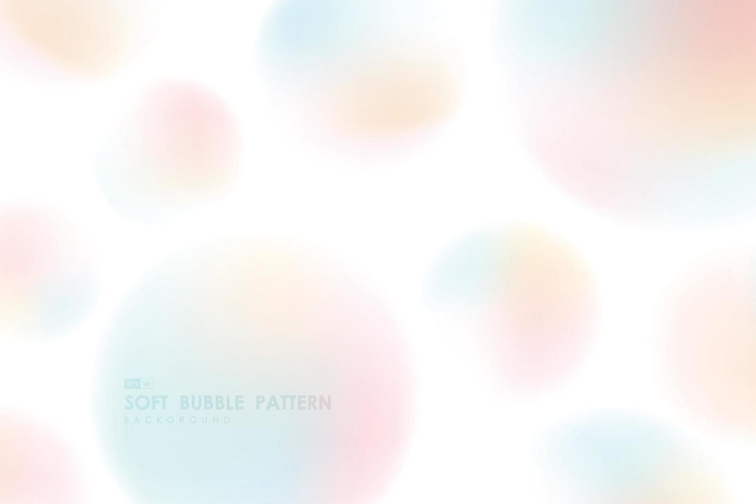 abstrakt mjuk lutning färgglada bubbla mönster design på vit bakgrund. illustration vektor eps10