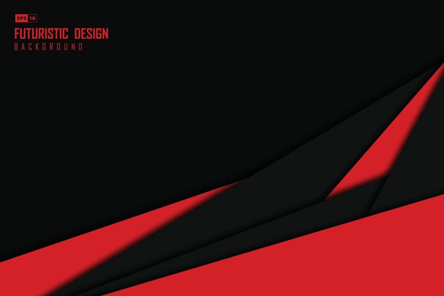abstrakt svart och röd teknik mall design konstverk bakgrund. illustration vektor eps10