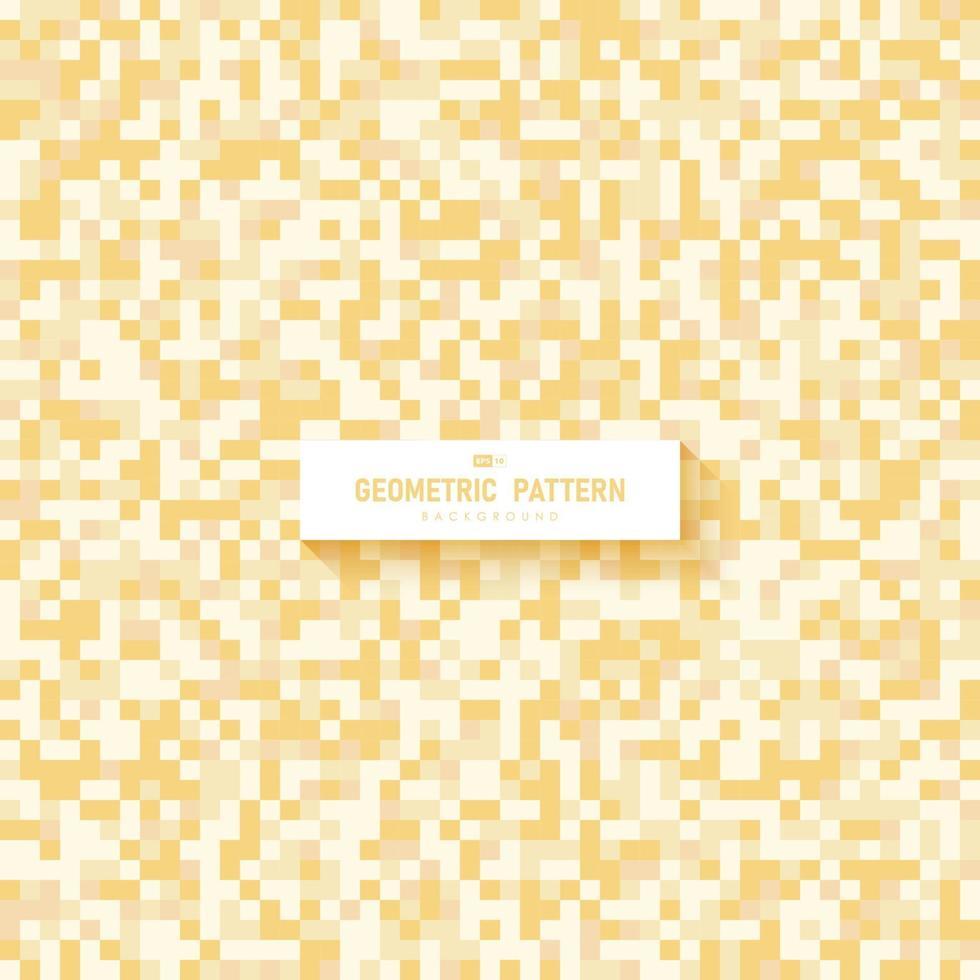 abstrakt gul fyrkantig mönster konstverk mall design bakgrund. illustration vektor eps10