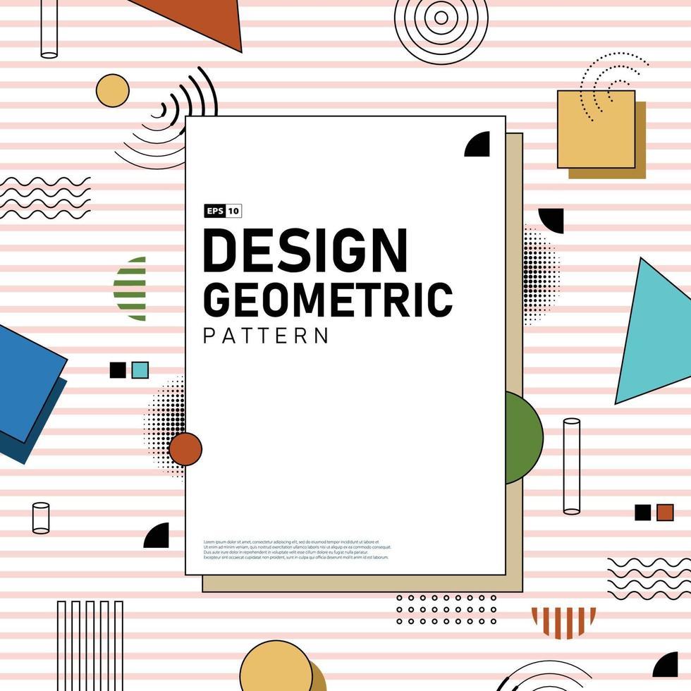 abstrakt täcka design av geometriska mönster konstverk bakgrund. illustration vektor eps10