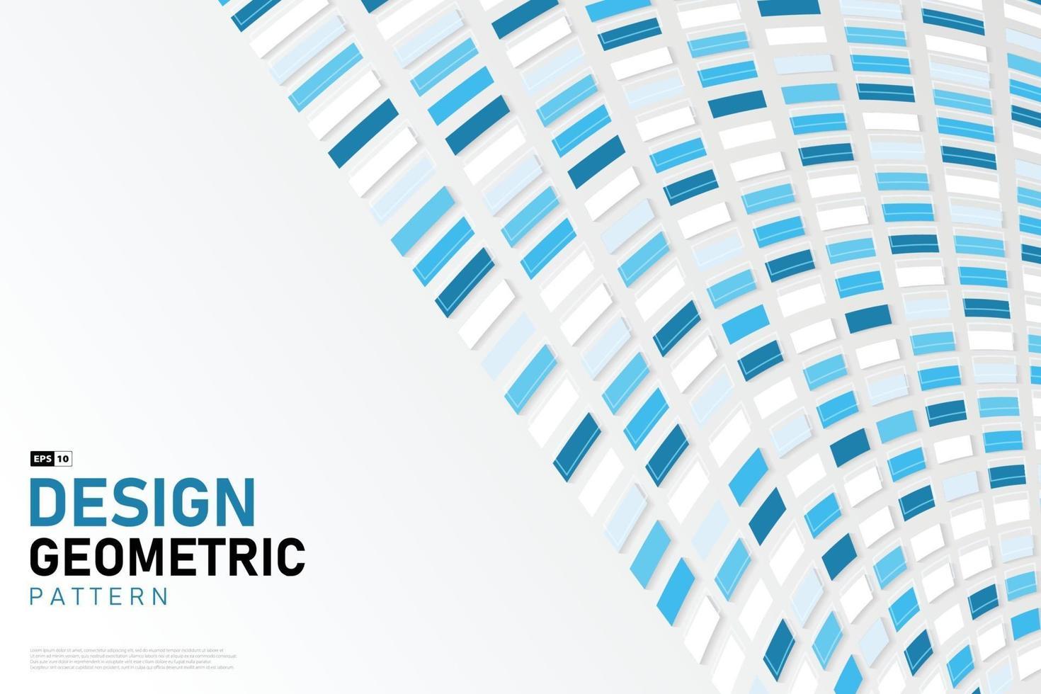 abstrakt fyrkantiga blå teknik stil design av täcka bakgrund. illustration vektor eps10