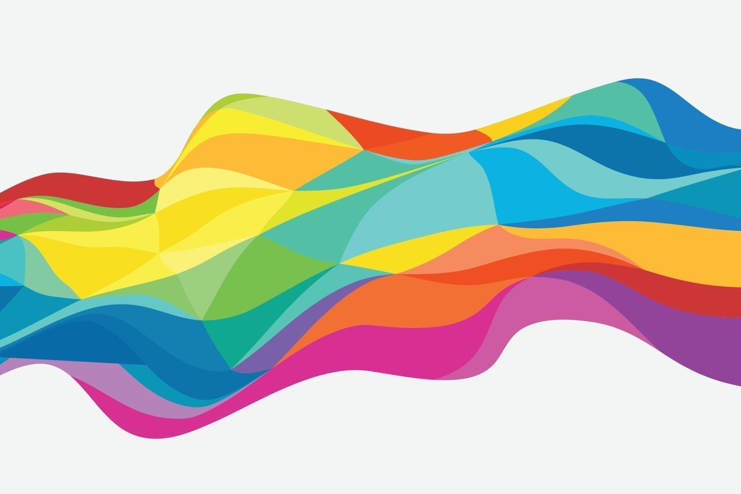 abstrakt färg polygon design mönster konstverk bakgrund. illustration vektor eps10